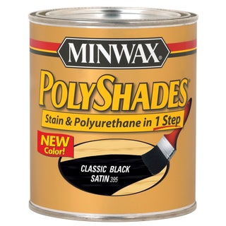 Minwax 61995 1 Quart Classic Black Polyshades Satin Wood Stain