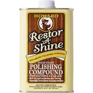 Howard RS0016 16 Oz Restor-A-Shine Wood Finish Polishing Compound