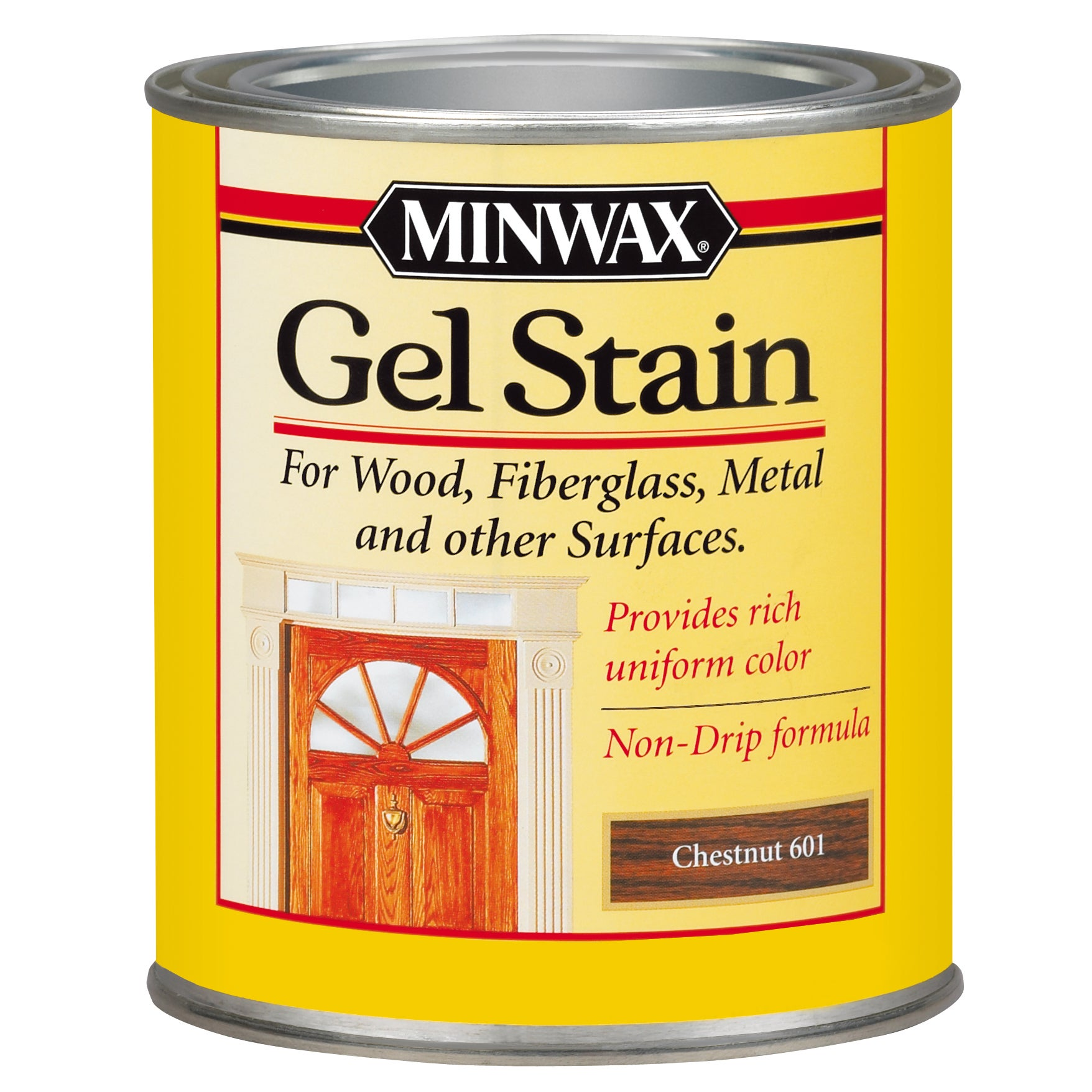 Minwax 66010 1 Quart Chestnut Gel Stain Interior Wood (Interior Stains)