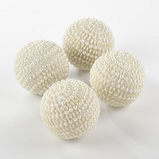 Beaded Sphere Decorative Accent - Set of 4