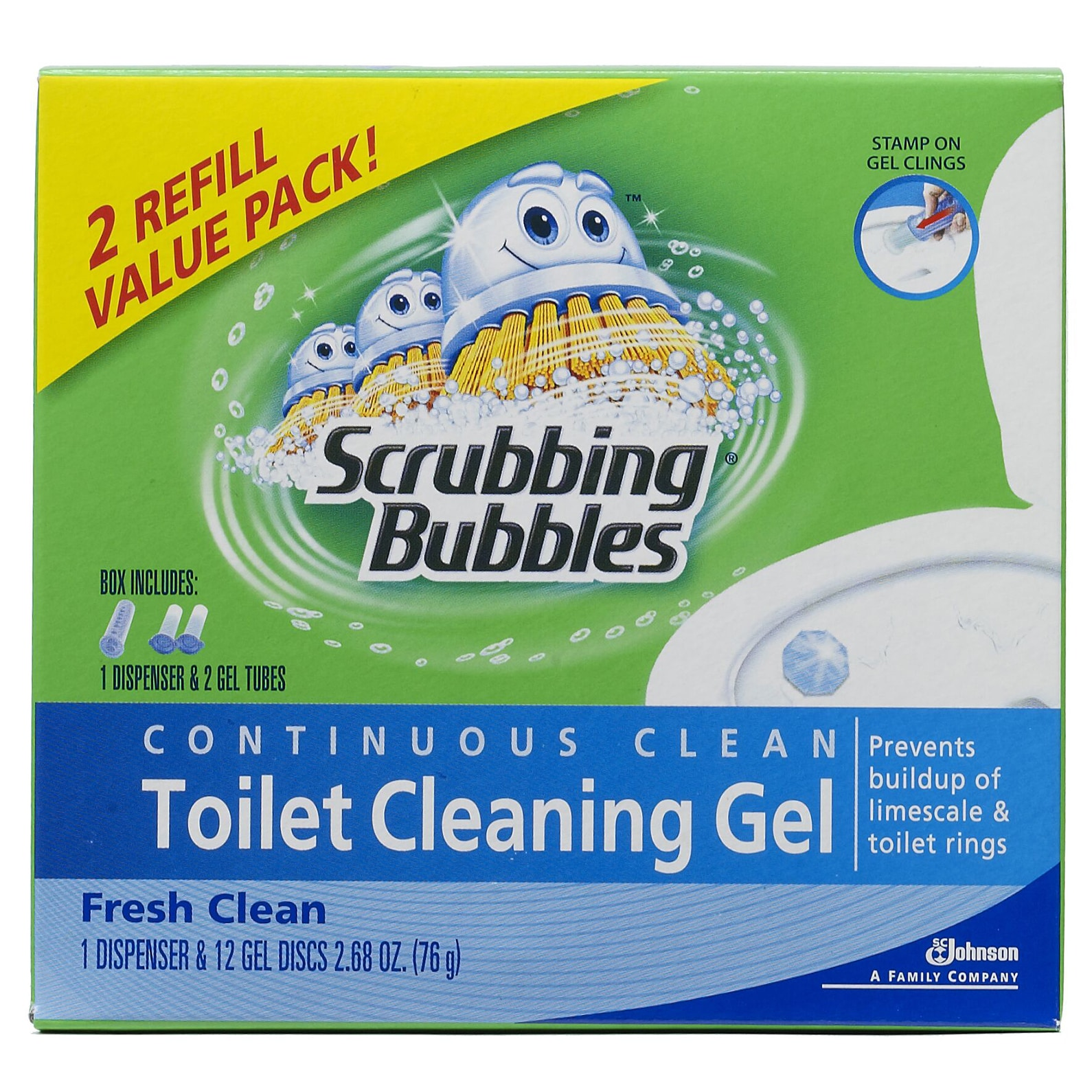 SC Johnson 70400 Fresh Clean Scrubbing Bubbles Toilet Cle...