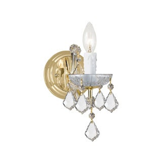 Crystorama Maria Theresa Collection 1-light Gold/Swarovski Spectra Crystal Wall Sconce