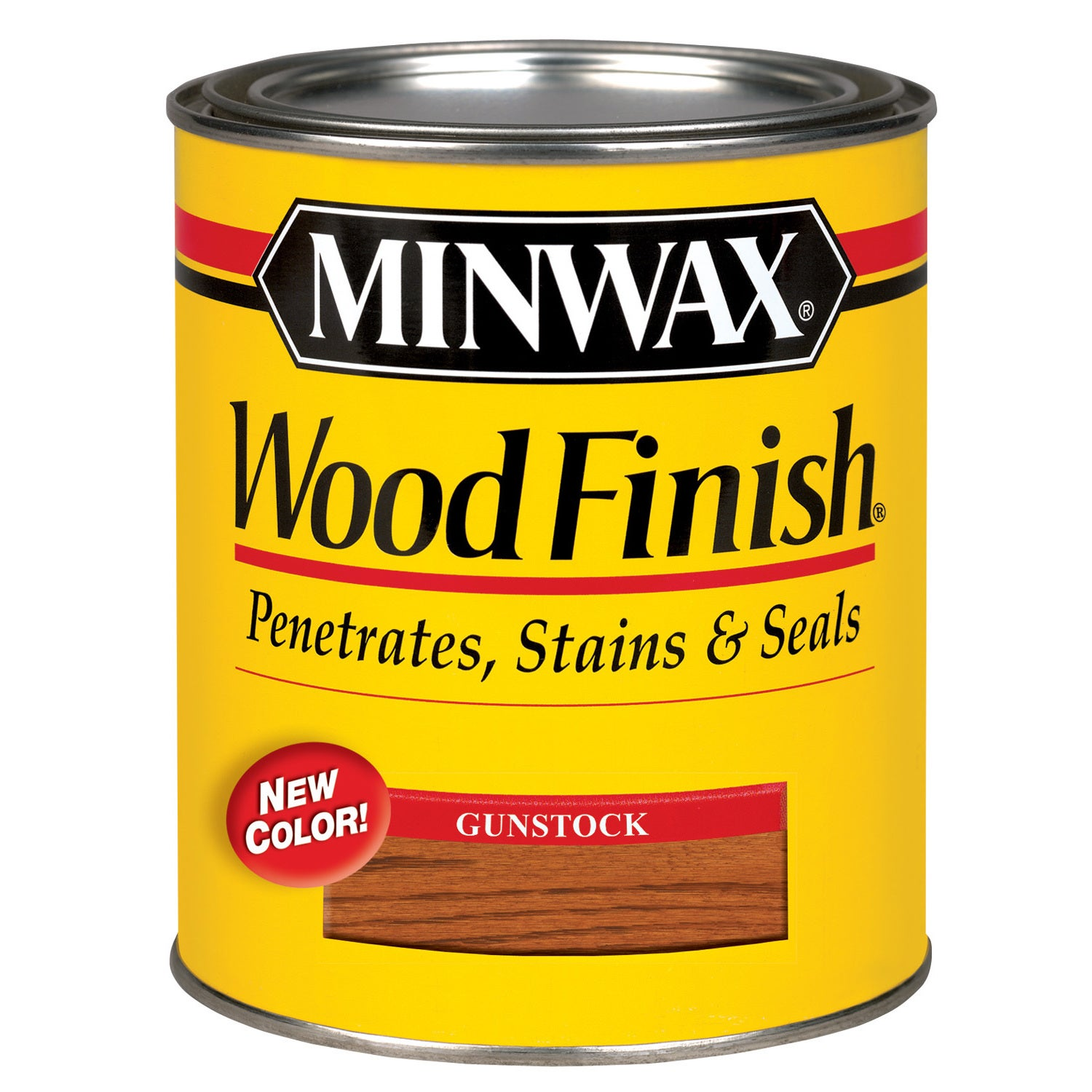 Minwax 70045 QT GUNSTOCK WD.FINISH - Minwax 7300 Antique Furniture Refinisher, 1 Qt, Liquid, Black From