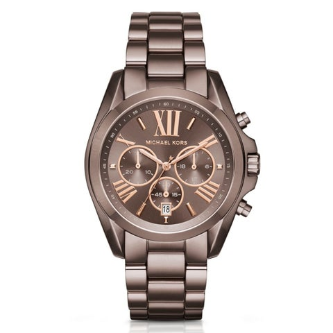 Michael Kors Women's 'Bradshaw' Chronograph Brown Stainless Steel Watch