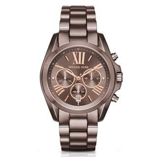 Michael Kors Women's MK6247 'Bradshaw' Chronograph Brown Stainless Steel Watch