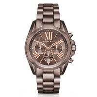 9c2f2147a2ee Michael Kors Women s MK6247  Bradshaw  Chronograph Brown Stainless Steel  Watch