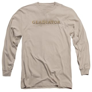 Gladiator/Logo Long Sleeve Adult T-Shirt 18/1 in Sand