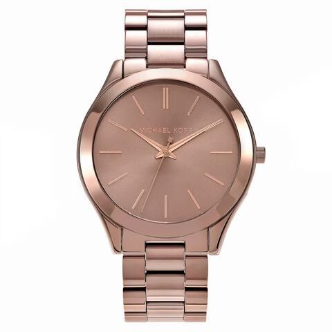 Michael Kors Women's 'Slim Runway' Brown Stainless Steel Watch