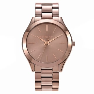 Michael Kors Women's MK3418 'Slim Runway' Brown Stainless Steel Watch