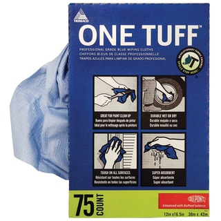 Trimaco 84075 One Tuff Wiping Cloths Dispenser Box 75-count
