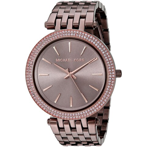 Michael Kors Women's 'Darci' Crystal Brown Stainless Steel Watch