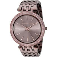 Michael Kors Women's  'Darci' Crystal Brown Stainless Steel Watch