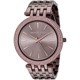 addcb4a9601b Michael Kors Women s MK3416  Darci  Crystal Brown Stainless Steel Watch