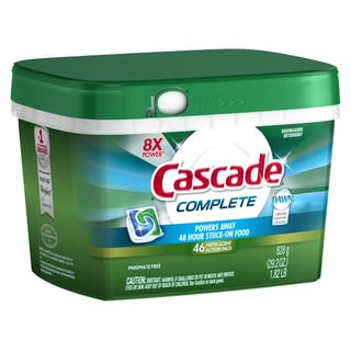 Cascade 91165 All-In-1 ActionPacs Dishwasher Detergent 46-count