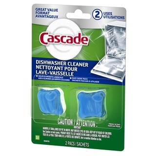Cascade 85840 Fresh Scent Dishwasher Cleaner 2-count