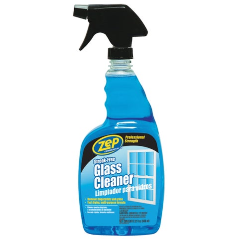 Zep Commercial ZU112032 32 Oz Zep Streak-Free Glass Cleaner