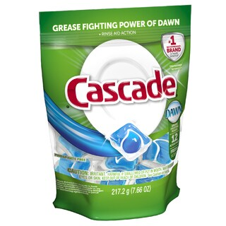 Cascade 41758 Fresh Scent Action Pacs Dishwasher Detergent 12-count