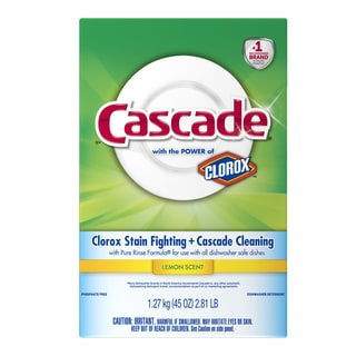 Cascade 34039 45 Oz Lemon Clorox Stain Fighting & Cascade Cleaning