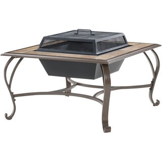Cambridge Outdoor Wood-Burning Fire Pit Coffee Table