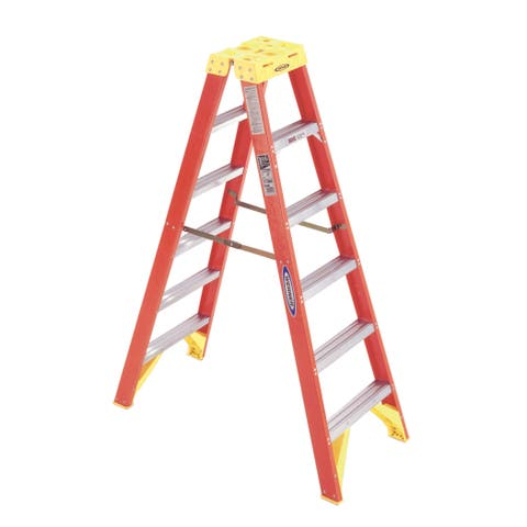 Werner T6206 6' Fiberglass Twin Step Ladder