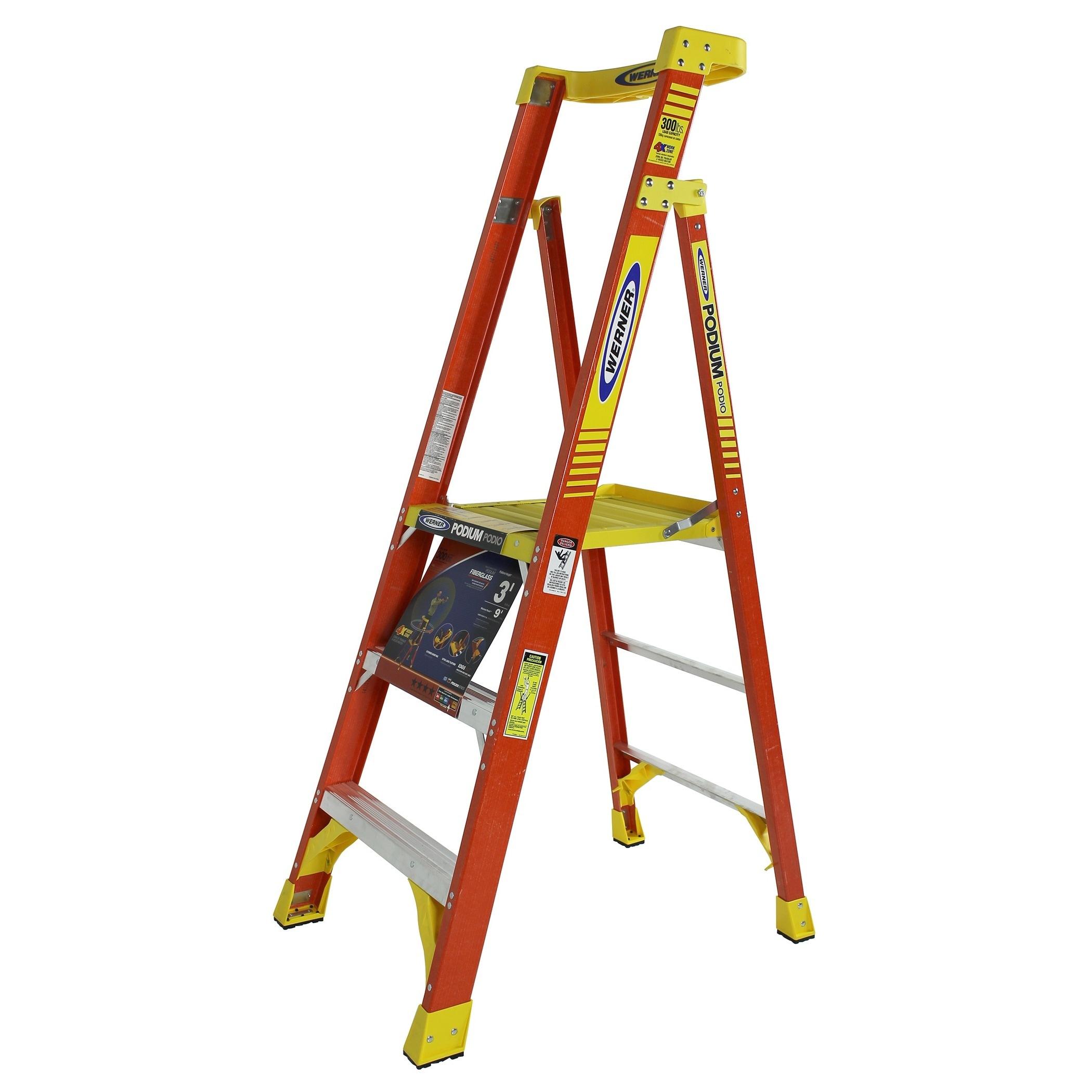 Werner PD6203 3' Podium Ladder (Ladders)