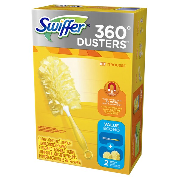 Swiffer 92927 Swiffer 360 Degree Dusters Kit With 2