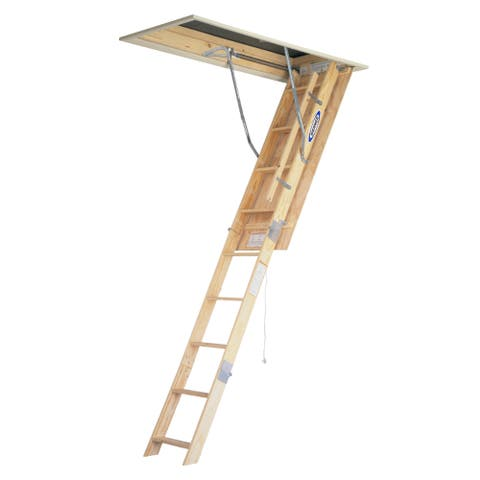 Werner W2210 10' Wood Attic-Master Ladder