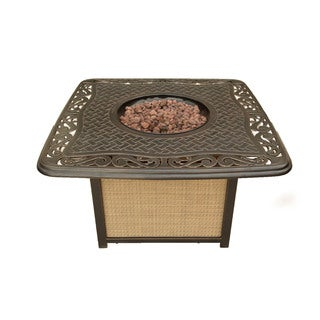 Cambridge Antique Bronze Aluminum Cast-Top Outdoor Fire Pit