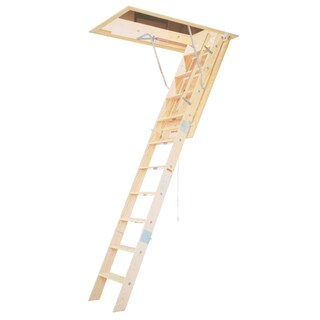 Werner WH2208 8' Wooden Attic Ladder