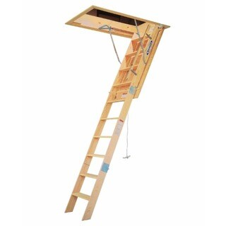 Werner WH2210 10' Wooden Attic Ladder