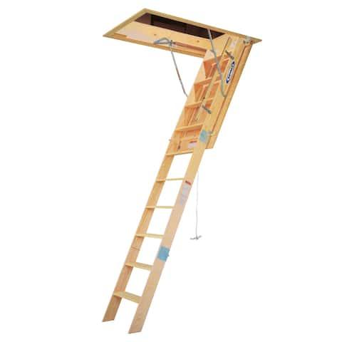Werner WH2508 8' Wood Folding Heavy Duty Access Ladder