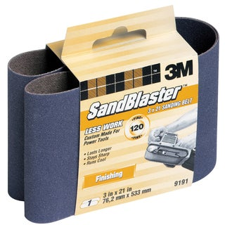 "3M 9191NA 3"" X 21"" 120 Grit Purple Sanding Belt"