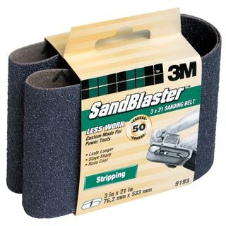 "3M 9193NA 3"" X 21"" 50 Grit Purple Sanding Belt"