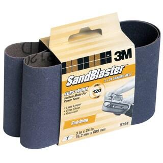 "3M 9194NA 3"" X 24"" 120 Grit SandBlaster Purple Sanding Belts"
