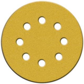 "Norton 49157 5"" 100 Grit Medium Hook & Loop Sanding Discs W/8 Holes 4-count"