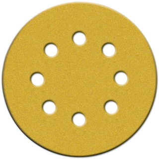 """Norton 49219 5"""" 180 Grit Hook & Loop Sanding Discs With 8 Holes 25-count"""