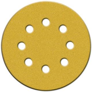 """Norton 49221 5"""" 120 Grit Hook & Loop Sanding Discs With 8 Holes 25-count"""