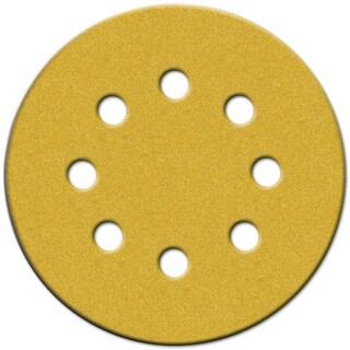 """Norton 49223 5"""" 80 Grit Hook & Loop Sanding Discs With 8 Holes 25-count"""