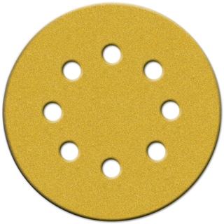 """Norton 49224 5"""" 60 Grit Hook & Loop Sanding Discs With 8 Holes 25-count"""