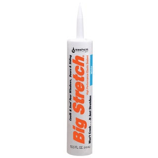 Sashco 10016 10.5oz 10.5 Oz White Big Stretch Caulk & Seal