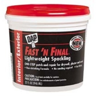 Dap 12140 1/2 Pint Fast'N Final Spackling Interior & Exterior
