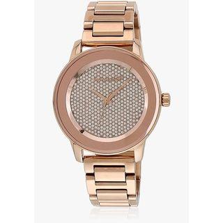 Michael Kors Women's 'Kinley' Crystal Rose-Tone Stainless Steel Watch