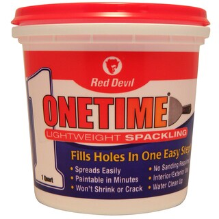 Red Devil 0544 1 Quart Onetime Spackling Interior