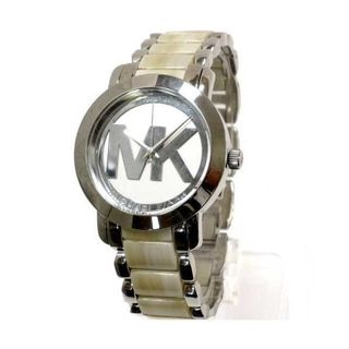 Michael Kors Women's MK4304 MK Logo Two-Tone Stainless steel and Acetate Watch