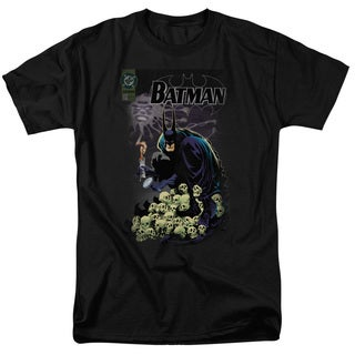 Batman/Cover #516 Short Sleeve Adult T-Shirt 18/1 in Black
