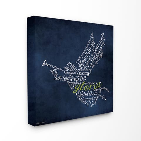 Gloria Angel Typography Stretched Canvas Wall Art