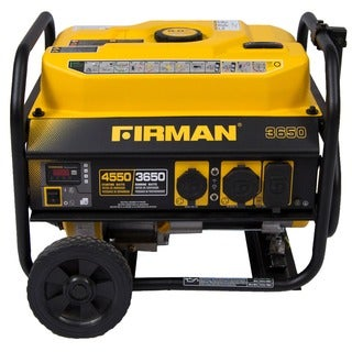 FIRMAN Power Equipment P03602 Gas Powered 4550/3650 Watt Portable Generator with Wheel Kit