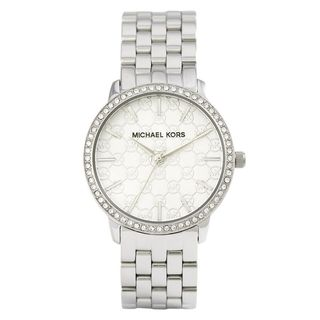 Michael Kors Women's MK3372 'Darci' MK Logo Crystal Stainless Steel Watch