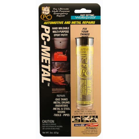 PC Products 025550 2 Oz Gray Metal Putty Epoxy