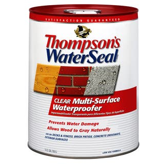 Thompsons Waterseal 24105 5 Gallon Clear WaterSeal Multi-Surface Waterproofer|https://ak1.ostkcdn.com/images/products/12430987/P19247377.jpg?impolicy=medium